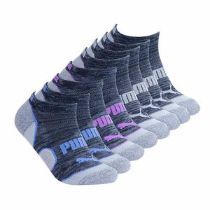 Puma Ladies 8-pair No Show Socks Black