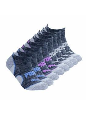 Puma Ladies 8-pair No Show Socks Black