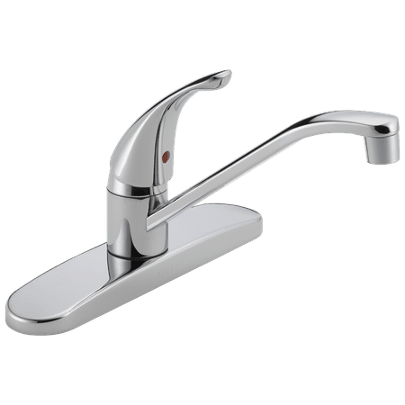 Peerless Single Handle Deck-Mount Kitchen Faucet in Chrome P110LF