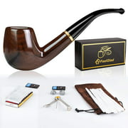 Best Tobacco Pipes - Tobacco Pipe Ebony Smoking Pipe with 10 Filter Review