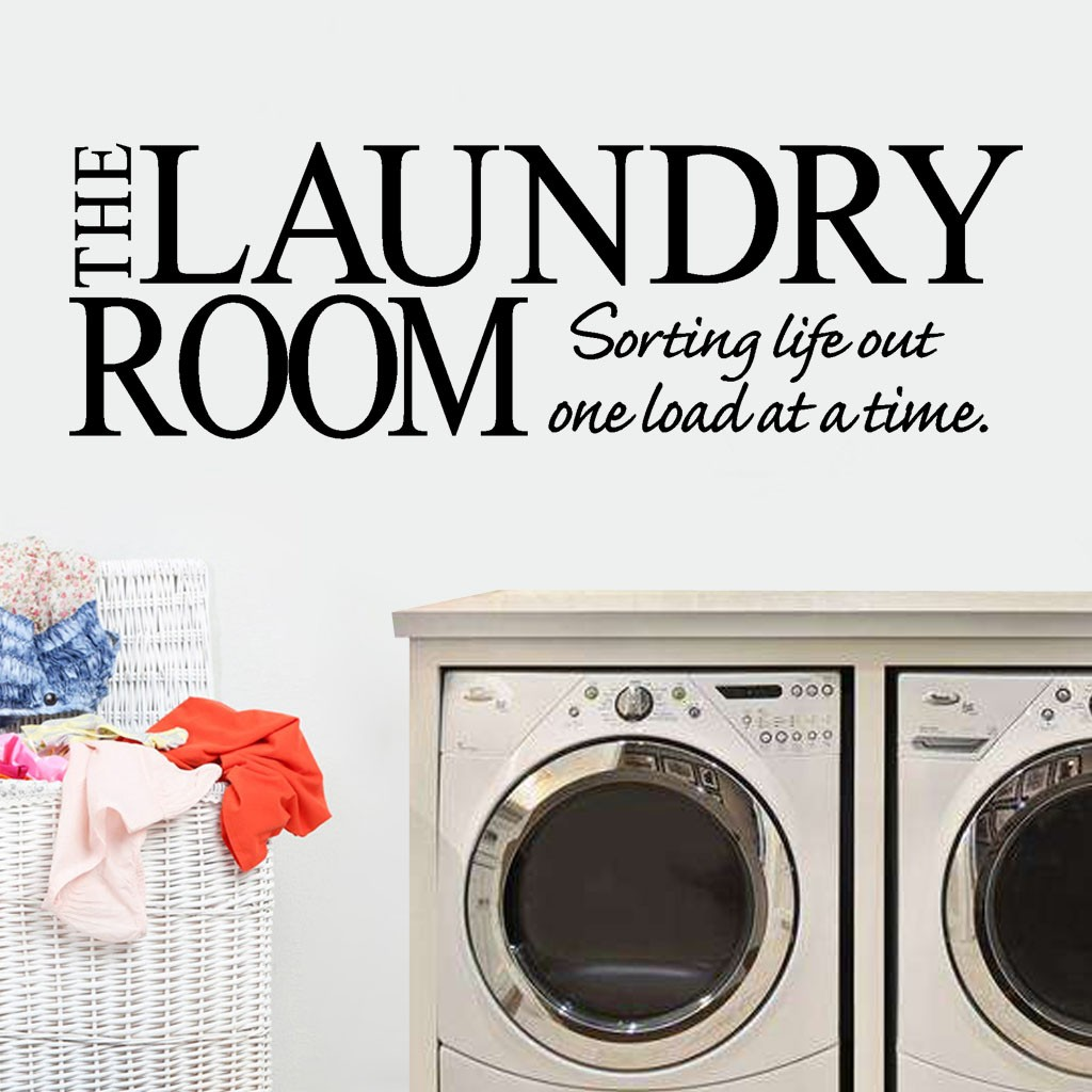 Laundry Service Sign Kitchen Utility Room Vinyl Sticker Wall Tile Window Decal