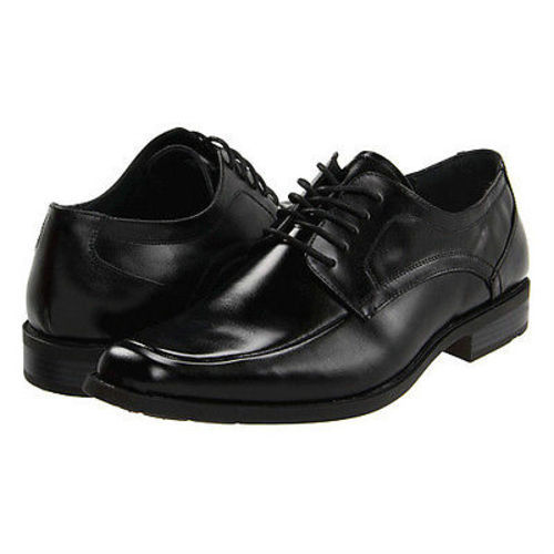 Stacy Adams CALHOUN Mens Black Leather Lace-Up Comfort Moc Toe Dress Shoe (Wide (E,W),10)