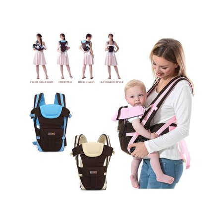 Adjustable 4-Positions, 360° Ergonomic Newborn Infant Baby & Child Toddler Front and Back Carrier Backpack Wrap Rider Sling, Soft & Breathable Cotton All Season