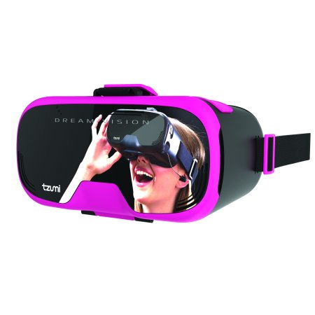 Tzumi Dream Vision Virtual Reality Headset, Pink