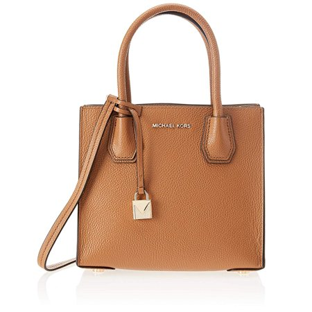 Michael Kors Mercer Medium Leather Crossbody Bag-Acorn (Michael Kors Handbags In Luggage)