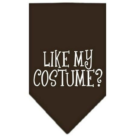 Like my costume? Screen Print Bandana Cocoa Small - Halloween Summary