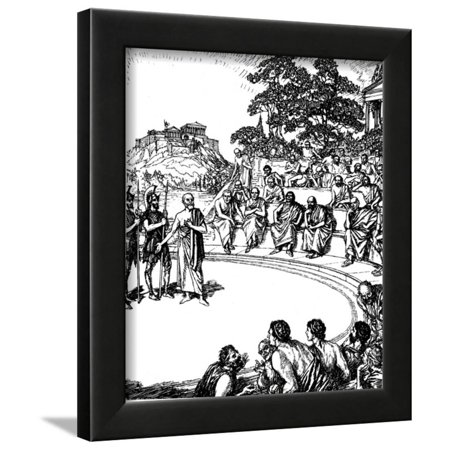 Trial of Socrates, Ancient Greek Philosopher, 399 BC Framed Print Wall Art