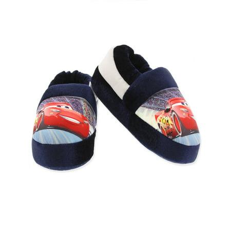Disney Cars Lightning McQueen Toddler Boys Plush Aline Slippers CAF250](Lightning Mcqueen Clothes)