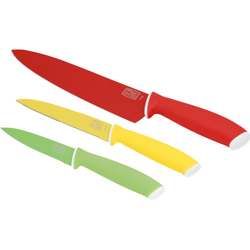 Chicago Cutlery Vivid 3-Piece Chef/Utility/Parer Knife Set