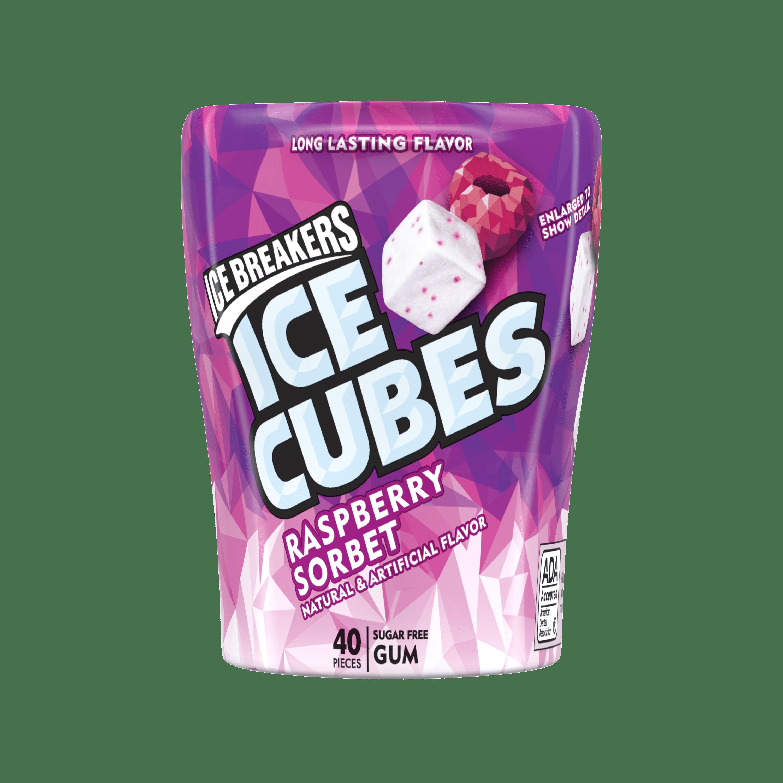 1824a3c371 Ice Breakers, Ice Cube Sugar Free Gum, Raspberry Sorbet, 3.24 Oz ...