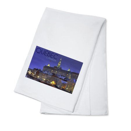 Quebec  Canada   Rue Des Remparts   Lantern Press Photography  100  Cotton Kitchen Towel