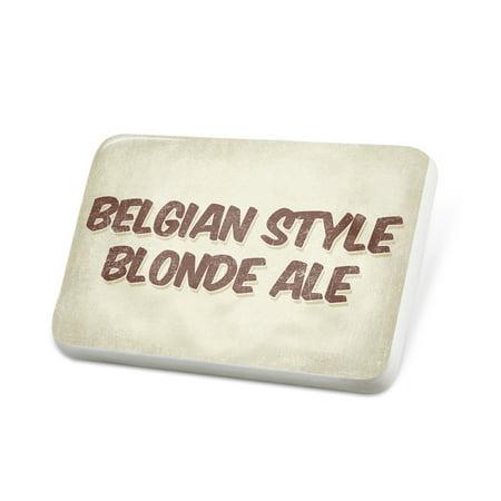 Porcelein Pin Belgian Style Blonde Ale Beer, Vintage style Lapel Badge – NEONBLOND