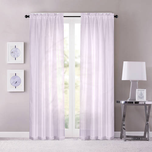 Sunclipse Sheer Window Panel Set of 2, Available In Multiple Colors and Sizes
