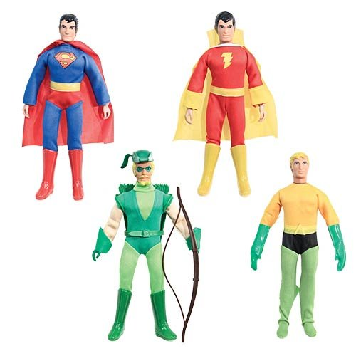 Super Powers 8 Inch Action Figures With Fist Fighting Action Series 1: Set of all 4 Figures