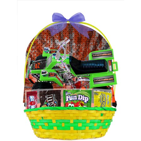 Easter Basket With Atv Vehicle   Candies  Item Or Color May Vary