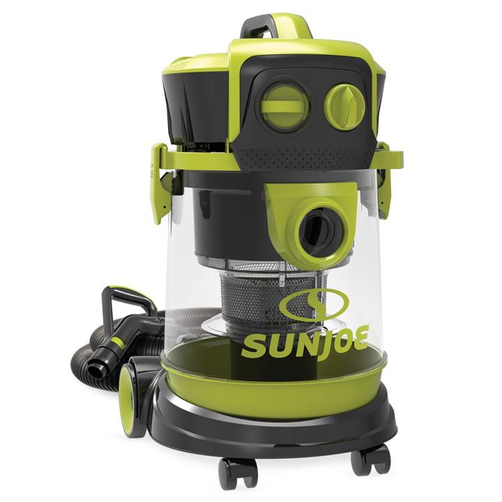 Sun Joe SWD4000 Industrial Motor Wheeled Wet/Dry Vacuum | 4 Gal. | 3.5 Peak HP | Semi Transparent Tank