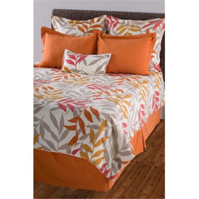 Rizzy Home BTC969 Beige and Orange Sunset Comforter Bed Set 106'' X 92''