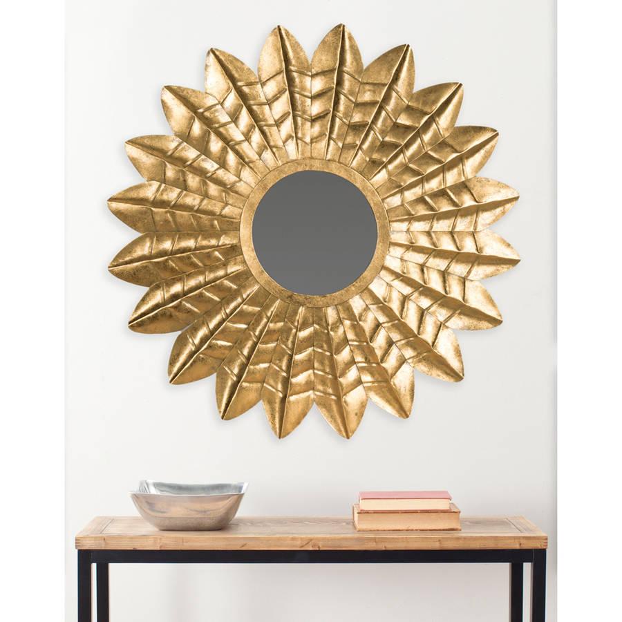 Safavieh Deco Leaf Mirror, Antique Gold