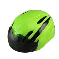 Ultralight Mountain Bike Helmet - with Goggles - Green/Black