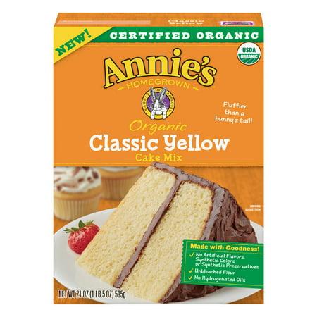 (2 Pack) Annies Organic Classic Yellow Cake Mix, 21 oz Box