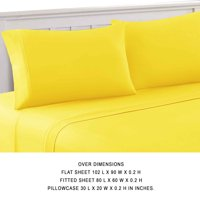 Bezons 4 Piece Queen Size Microfiber Sheet Set The Urban Port, Yellow