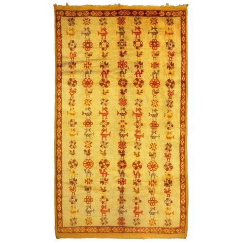 Casablanca Market Berber Kilim Hand-Woven Area Rug