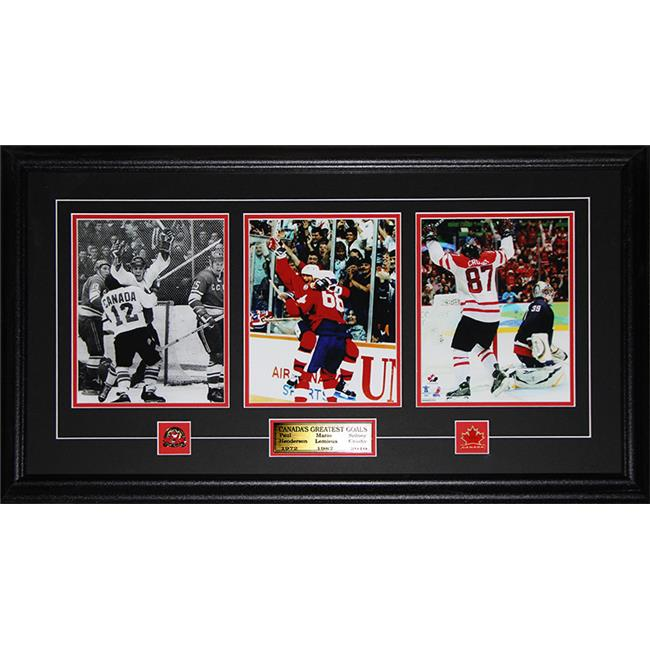 Midway Memorabilia canadagoals_3photo Paul Henderson Wayne Gretzky Sidney Crosby Canada'S Greatest Goals 3 Photo Frame