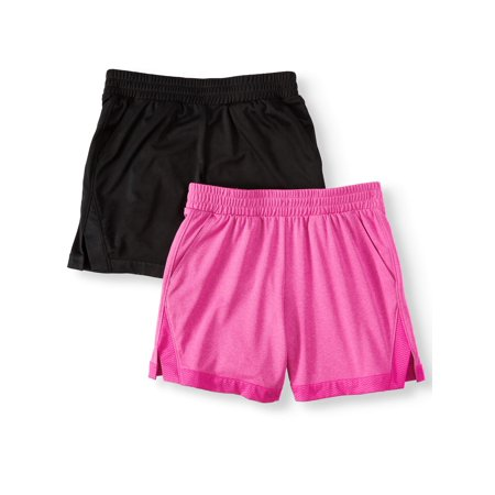Athletic Works Active Mesh Shorts, 2-Pack (Little Girls & Big - Girls Microfleece Active Pants