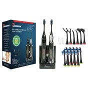 PURSONIC S522BZ Dual Handle Ultra High Powered Sonic Electric Toothbrush  Black & Zebra