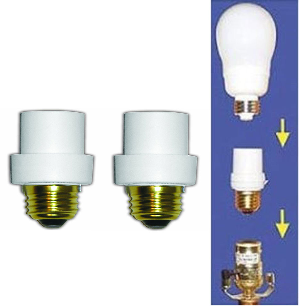2 Pc Automatic Lamp Sensors Dusk Dawn Security Light Bulb Switch System Socket