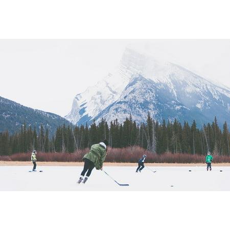 LAMINATED POSTER Rink Sports Hockey Skates Ice Skating People Poster 24x16 Adhesive Decal