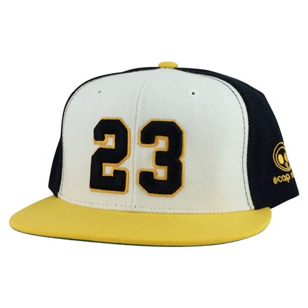 e9c3af8897cc8c lovely Player Jersey Number  23 2Tone Snapback Hat Cap x Air Jordan   Lebron  - White Black Yellow