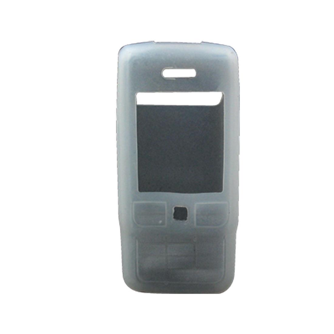 Unique Bargains Phone Silicone Clear White Protector Cove...