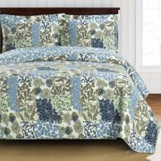 Elena Green Forest Oversize Coverlet Wrinkle-Free Reversible Quilt Set - Twin/Twin Xl