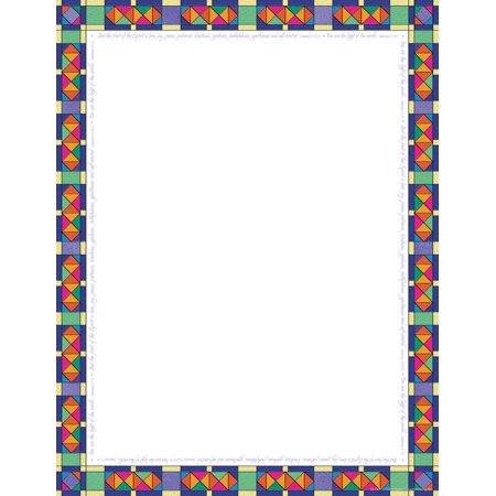 Barker Creek 2pk Printer Paper 100ct - Stained Glass