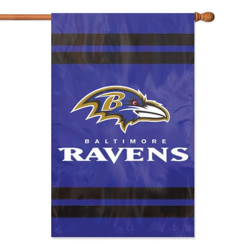 Party Animal Ravens Applique Banner Flag
