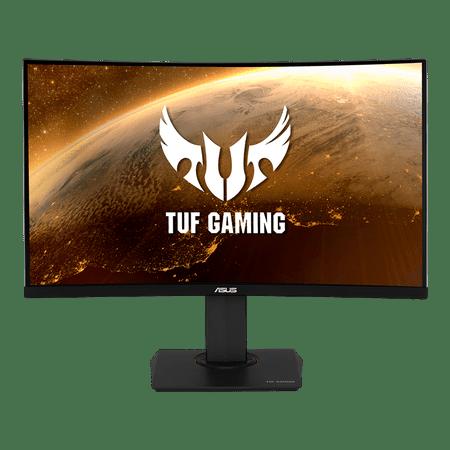 ASUS TUF Gaming 32u0022 1440P HDR Curved Monitor (VG32VQ) - QHD (2560 x 1440), 144Hz, 1ms, Extreme Low Motion Blur, Speaker, Adaptive-Sync, FreeSync Premium, VESA Mountable, DisplayPort, HDMI
