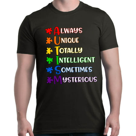 Autism Tee Shirts (Shop4Ever Men's Always Unique Autism Awareness Graphic)