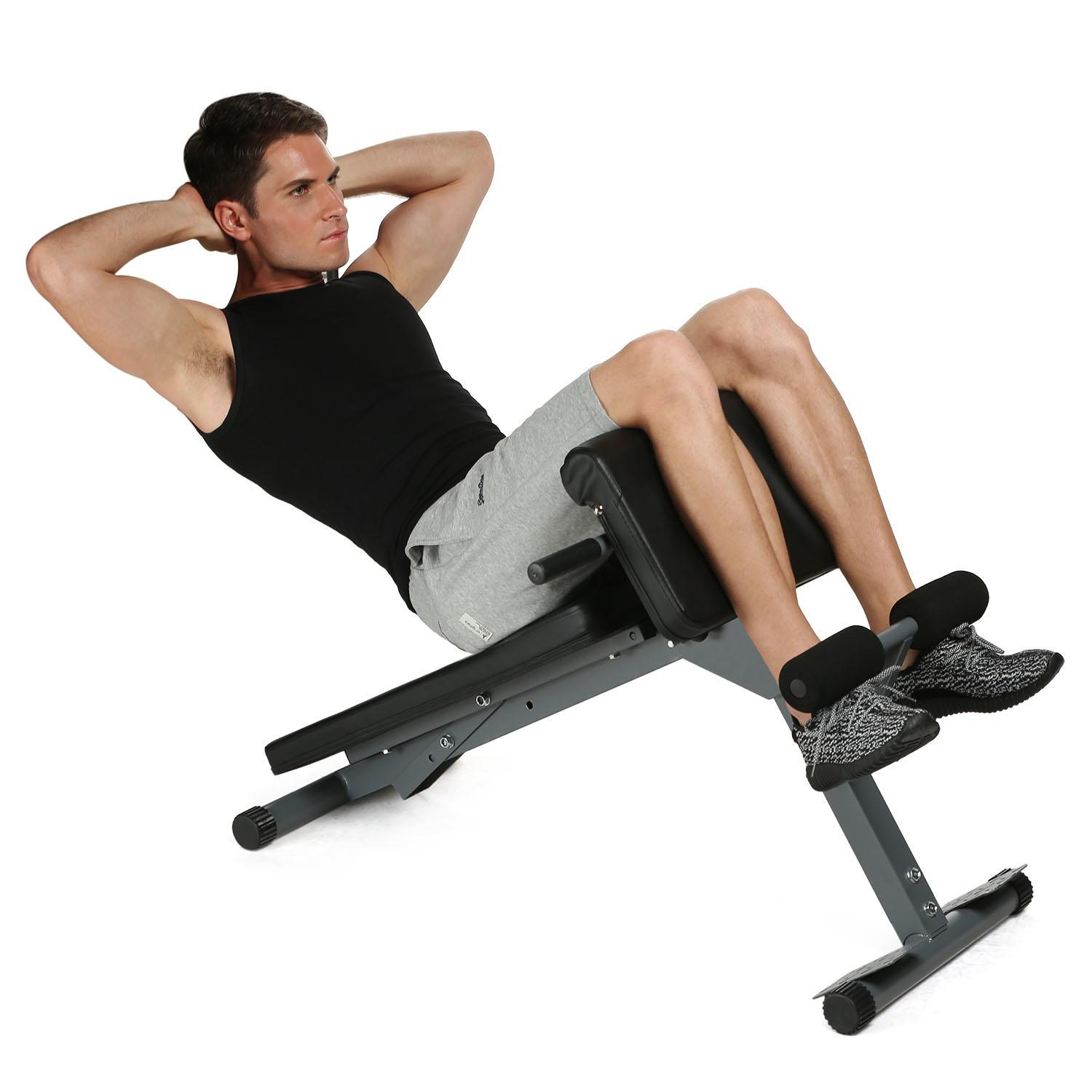 Hifashion Roman Chair Hyperextension Bench Sit Up Bench Abdominal Exercise Home Gym Fitness Workout Equipment HFON  sc 1 st  Walmart & Hifashion Roman Chair Hyperextension Bench Sit Up Bench Abdominal ...
