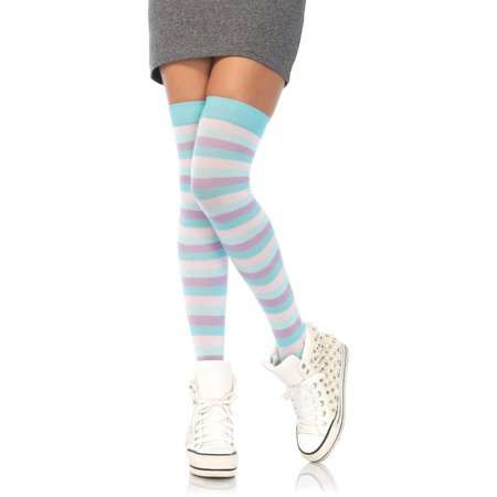 Pastel Rainbow Thigh Highs Halloween Costume Accessory (Halloween Thigh High Boots)