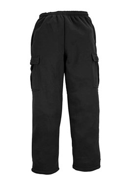 d53288218 Product Image North 15 Men's Heavy Fleece Sweat Pants with Cargo  Pockets-1121-Blk-Lg