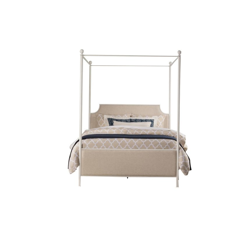 Hillsdale McArthur King Panel Canopy Bed in Oatmeal by Hillsdale
