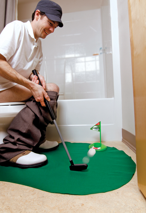 Bon Golf Potty Putting Game 7 Pc Novelty Set Bathroom Putting Green