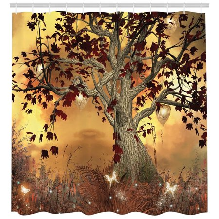 Old Twisted Tree Fabric Shower Curtain Extra Long 84 Inch Bathroom ...