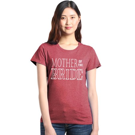 Shop4Ever Women's Mother of the Bride Bridal Family Wedding Graphic T-Shirt - Violet The Clown