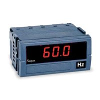 Digital Panel Meter, Frequency SIMPSON ELECTRIC