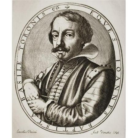 Posterazzi  Giambattista Basile, Circa 1575-1632 Italian Author of The Pentamerone of Giambattista Basile From Woodcut by His Friend Jacobus Pecini Made In 1641, Engraver Nicolaus Perrey - image 1 of 1