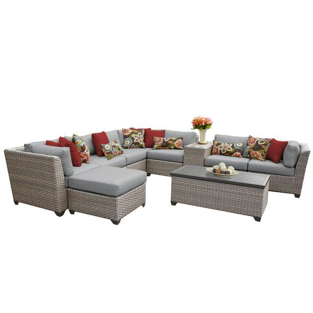 Catalina 10 Piece Outdoor Wicker Patio Furniture Set 10b ...