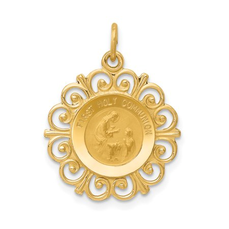 14K Yellow Gold First Holy Communion Charm - image 2 de 2