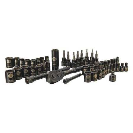 STANLEY 50-Piece Mechanics Tools Set, Black Chrome | STMT71649